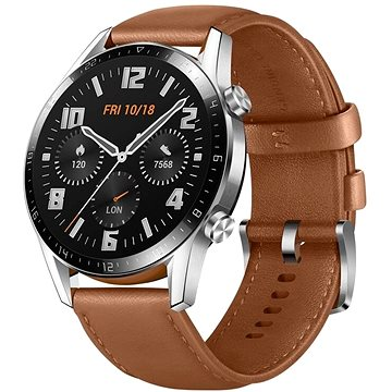 Huawei Watch GT 2 46 mm Brown Leather Strap (55024470)