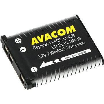 AVACOM za Olympus Li-40B, Li-42B Li-ion 3.7V 740mAh 2.7Wh AVA (DIOL-LI40-AVA)