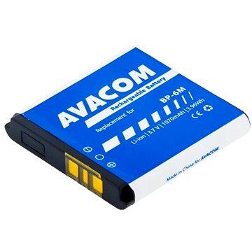 Avacom pro Nokia 6233, 9300, N73 Li-Ion 3,7V 1070mAh (náhrada BP-6M) (GSNO-BP6M-S1070)