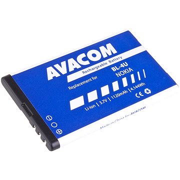 Avacom za Nokia 5530, CK300, E66, 5530, E75, 5730, Li-ion 3.7V 1120mAh (náhrada BL-4U) (GSNO-BL4U-S1