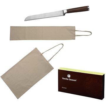 VS ABADAN sada 2 bavlněných sáčků na pečivo a nože na chleba v krabičce VS (H2400100AJ3)