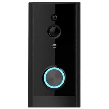 Immax NEO LITE Smart Video zvonek, WiFi, černý + baterie a vyzváněcí modul (07714L)