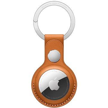 Apple AirTag kožená klíčenka zlatohnědá (MMFA3ZM/A)