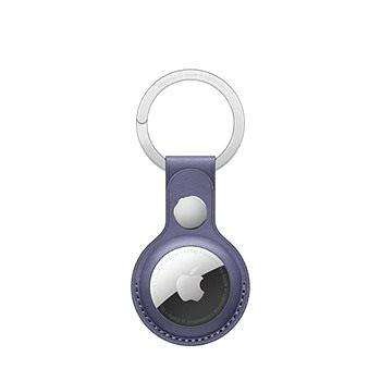 Apple AirTag kožená klíčenka šeřikově nachová (MMFC3ZM/A)