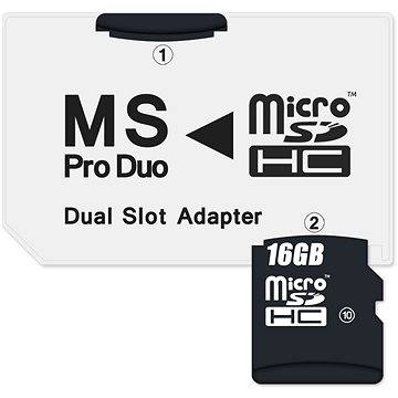 CONNECT IT MS PRO DUO na 2x Micro SDHC (CI-1138)