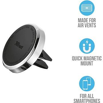 Trust Car Vent Magnetic Phone Holder (20823)