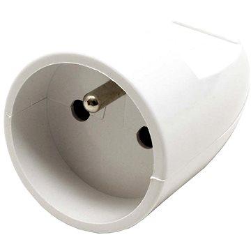 OEM Konektor 230V / 16A samice (zásuvka), CEE 7/5, na kabel, bílý (ppk02)
