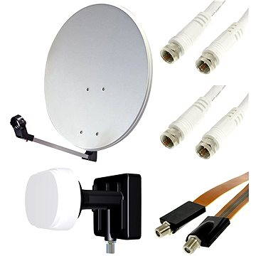 Set pro TV se satelitním tunerem - 2 družice, 1 přijímač (H07a07)
