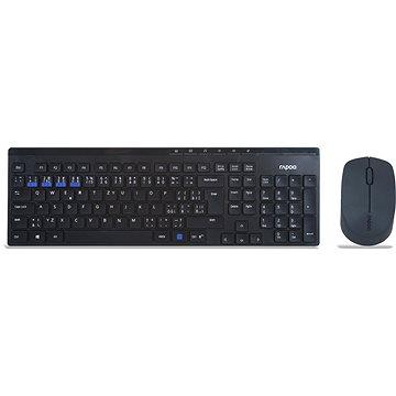 Rapoo 8100M Wireless Multi-Mode Black - CZ/SK (Rapoo 8100M)