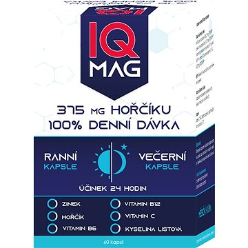 IQ Mag ranní/večerní 60 kapslí (3889970)