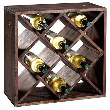 Kesper Stojan na víno, borovice tmavá 50x50x25cm (69244)