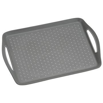 Kesper servírovací plastový, protiskluzový šedý 45,5 x 32 cm (77207)
