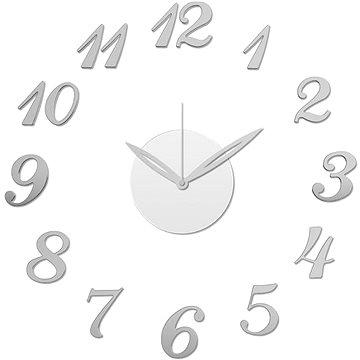Stardeco nástěnné nalepovací hodiny stříbrné HM-10X001 (8595571239185)
