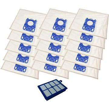 KOMA sada příslušenství SB02PL pro vysavače Electrolux, AEG, Philips, 15 sáčků, 1 Hepa filtr (SB02PL_HFEX1)