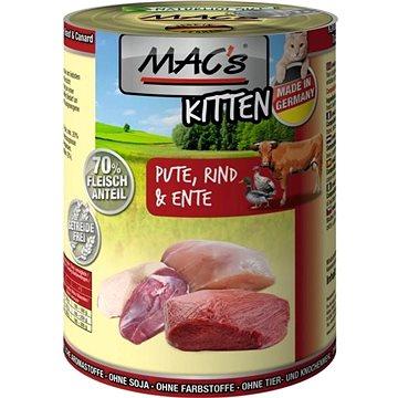 MAC's Cat Krůtí, Hovězí a Kachní pro koťata 200g (4027245008000)