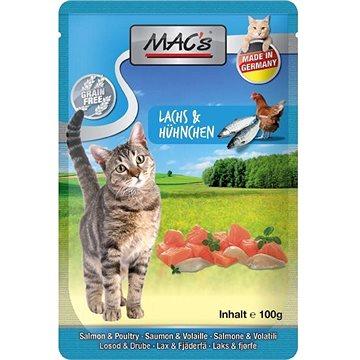 MAC's Cat Drůbeží s lososem a bylinkami 100g (4027245008505)