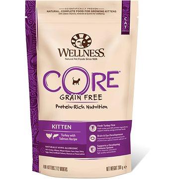 Wellness Core Cat Kitten krůta a losos 300g (076344107279)