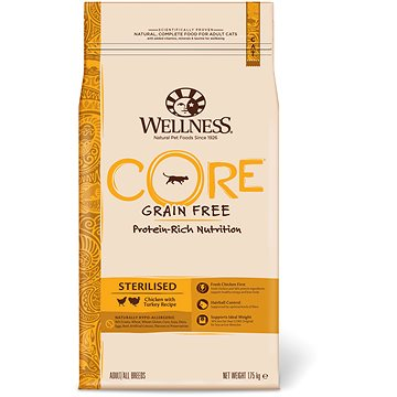 Wellness Core Cat Sterilised krůta a kuře 1,75kg (076344107262)