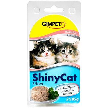 GimCat Shiny Cat junior kuře 2 × 70 g (4002064413525)