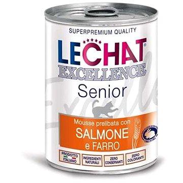 Monge Lechat Excellence Monoprotein Senior paté losos & špalda 400g (8009470060646)