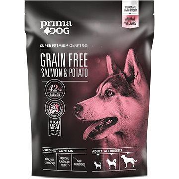 PrimaDog Losos s bramborami bez obilovin, pro dospělé psy s citlivým trávením, 1,5 kg (6430056887173)