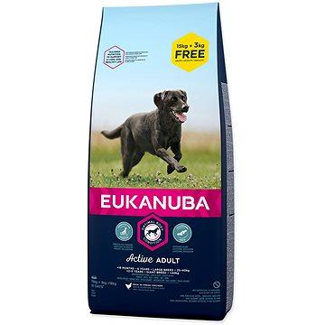 Eukanuba Adult Large 15+3kg ZDARMA (8710255121772)
