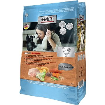 MAC's Dog Soft GRAIN FREE Kuře pro Štěňata 15kg (4027245901400)