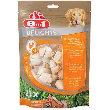 8in1 Delights Kost žvýkací XS bag 21ks (4048422105992)
