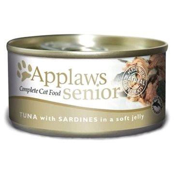 Applaws konzerva Senior Cat tuňák a sardinky v želé 70 g (5060333431976)