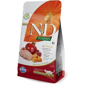 N&D PUMPKIN grain free cat neutred quail & pomegranate 1,5 kg (8010276035424)