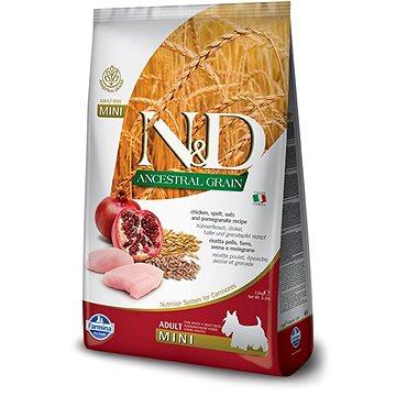 N&D low grain dog adult mini chicken & pomegranate 7 kg (8010276035073)