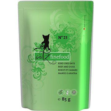 Catz finefood s hovězím a kachním 85 g (4260101762337)