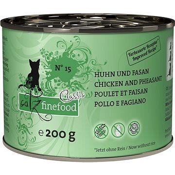 Catz finefood s kuřecím a bažantím 200 g (4260101762221)