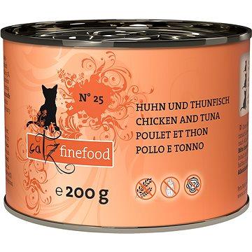 Catz finefood s kuřecím a tuňákem 200 g (4260101762375)