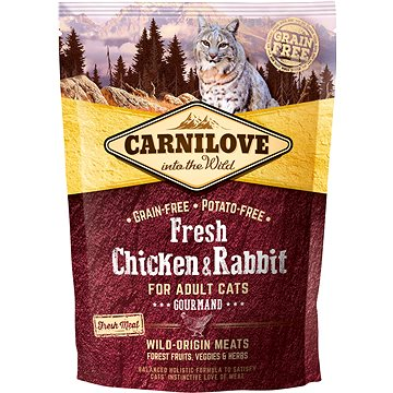 Carnilove fresh chicken & rabbit gourmand for adult cats 400 g (8595602527373)