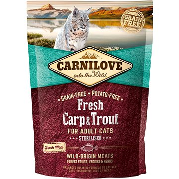 Carnilove fresh carp & trout sterilised for adult cats 400 g (8595602527427)