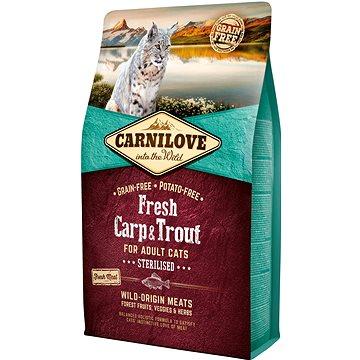 Carnilove fresh carp & trout sterilised for adult cats 2 kg (8595602527441)