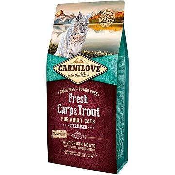 Carnilove fresh carp & trout sterilised for adult cats 6 kg (8595602527465)