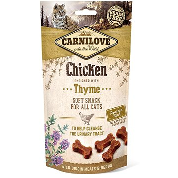 Carnilove cat semi moist snack chicken enriched with thyme 50 g (8595602527212)