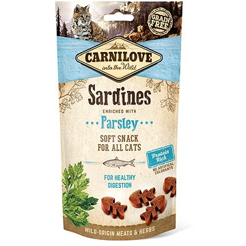 Carnilove cat semi moist snack sardine enriched with parsley 50 g (8595602527236)
