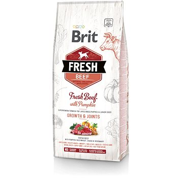 Brit Fresh beef with pumpkin puppy large 12 kg (8595602530755)