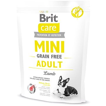 Brit Care mini grain free adult lamb 400 g (8595602520114)