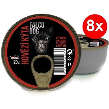 FALCO DOG 120 g hovězí kýta, 8 ks (8594025081837)