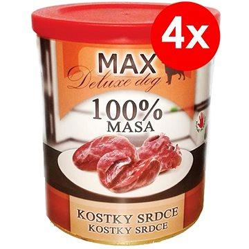 MAX deluxe kostky srdce 800 g, 4 ks (8594025084135)
