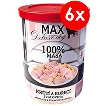 MAX deluxe krůtí a kuřecí svalovina 400 g, 6 ks (8594025082766)