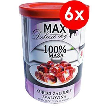 MAX deluxe kuřecí žaludky - svalovina 400 g, 6 ks (8594025082803)