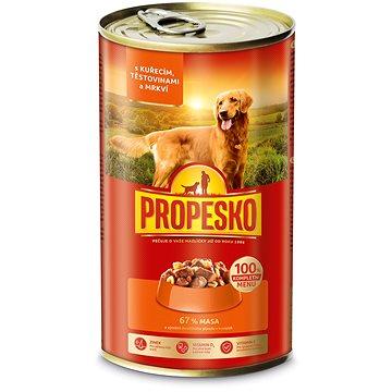 Propesko kousky pes kuře+těstoviny+mrkev 1240 g (8594014725230)