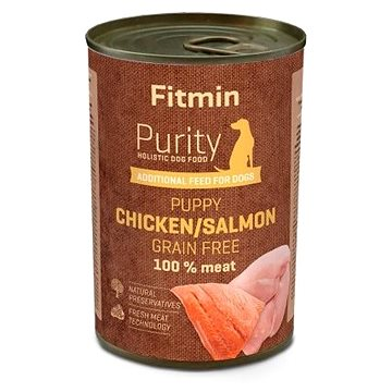 Fitmin dog Purity tin PUPPY salmon with chicken 400 g (8595237018826)