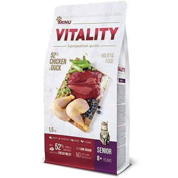Akinu VITALITY cat senior chicken & duck 1,5 kg (8595184953188)