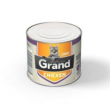 Grand deluxe 100% kuřecí pro kočku Junior 180 g (8594029443785)